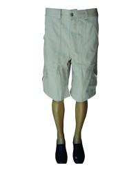 Bermuda em Brim, meio elástico com bolsos cargo nas pernas