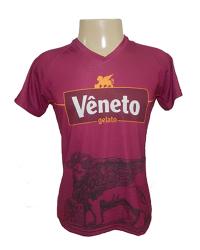 Camiseta em Polielastano Sublimado Decote V