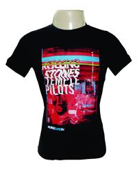 Camiseta Preta 100% algodão com impressão indexado