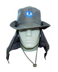 Chapéu Australiano em Brim com Protetor de Pescoço Impresso em Silk