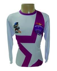Camisa em Dry Fit Esportivo Sublimado com gola tradicional