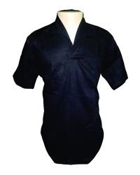 Camisa em Brim Preto com gola